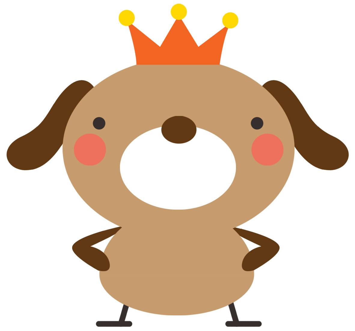 高解像度プリント素材 犬イラスト~mococo print~ : 【素材】可愛らしい犬